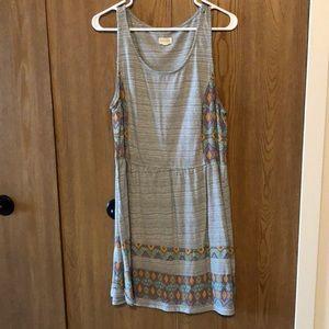 Striped tribal print dress